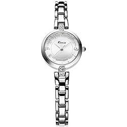 strap watches/Retro art girls watch-white