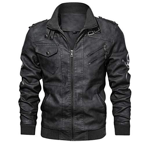GODDOIT Herren Lederjacke Cleane Basic Echtleder Jacke in vielen Varianten und Farben