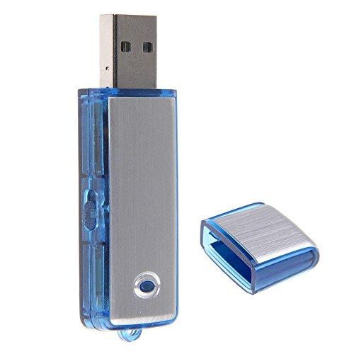 SHS® LECTOR GRABADOR DE AUDIO DE VOZ USB PENDRIVE MICROSPIA