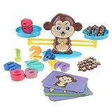 perfeclan Kinder Montessori Mathematik Lernspielzeug Set, inl. Waage + Karten + Zahlenblöcke +...