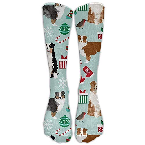 (Hot Australian Shepherd Christmas Cute Aussie Dogs Compression Socks For Women And Men - Best Medical, Nursing, Travel & Flight Socks)