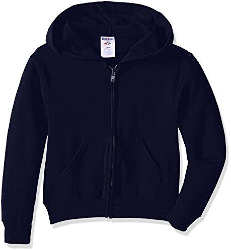 Jerzees-baumwolle-pullover (Jerzees Youth Full Zip Hooded Sweatshirt, J Navy, Large)