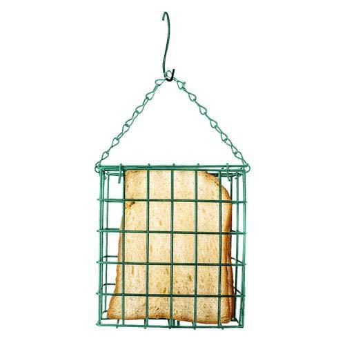 Green Square Bird Feeder Outdoor-Vogelfutter Cake Feeder-Gerät Suet Feeder Cage Zubehör für Hinterhof-Vogelfutterstationen -