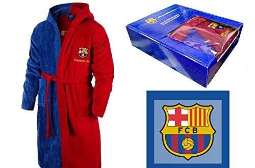 T&R Albornoz Algodón Oficial FC Barcelona Talla 10-12 Años