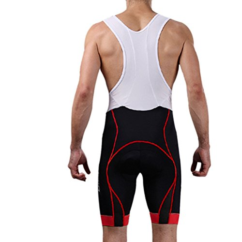 Zhhlaixing Mens Cycling Bib Shorts 3D Gel Padded Cycling Pants Cycling Shorts Red