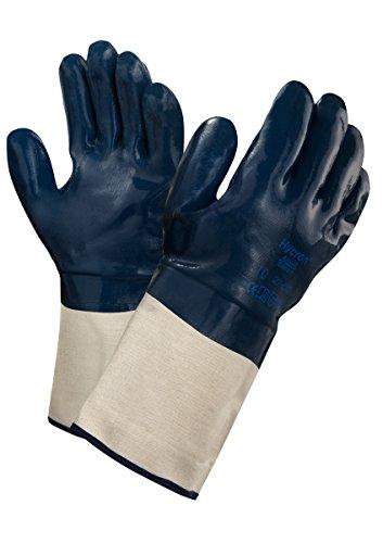 Ansell Hycron 27-810 Öl abweisende Handschuhe, Mechanikschutz, Blau, Größe 10 (12 Paar pro Beutel) -