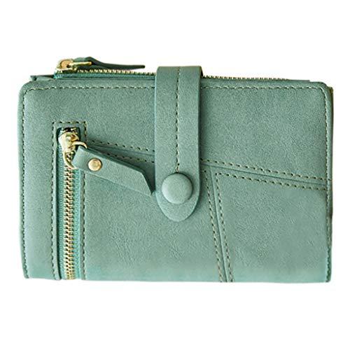 Mitlfuny handbemalte Ledertasche, Schultertasche, Geschenk, Handgefertigte Tasche,Frauen Kurze Geldbörsen Mini Geldbörsen Kleine Falte Weibliche Geldbörse Kartenhalter -