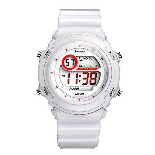 deportivo led luminoso alarma digital impermeable correa de pvc cuarzo relojes niños relojes para niños