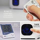 3,0L Baby Luftbefeuchter Ultraschall, Cool Mist Raumbefeuchter, Fernbedienung + Thermometer Hygrometer Uhr - 4