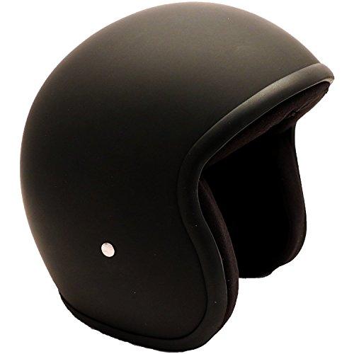 Riding Wear (PI Wear Jet schwarz matt Evo sehr kleiner und schmaler Jethelm * auffälliges Design * keine ECE (M))