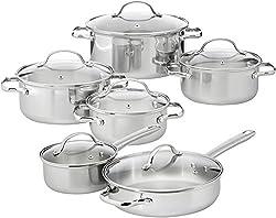 Amazonbasics 12-piece Stainless Steel Cookware Set