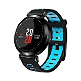 Binggong Armbanduhr Armbanduhr,Binggong 2018 Smart Watch Sport Fitness Aktivität Herzfrequenz Tracker Blutdruckuhr Mode Sportuhr Capture Kompatibel mit Android IOS Smartphone (120mm-200mm, Blau)