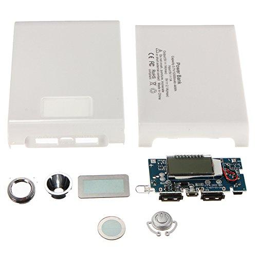 BouBou DIY Kit Dual USB 5V 1A 2A Power Bank 18650 Batterie-Ladegerät-Box - Weiß 1a Power Supply Kit