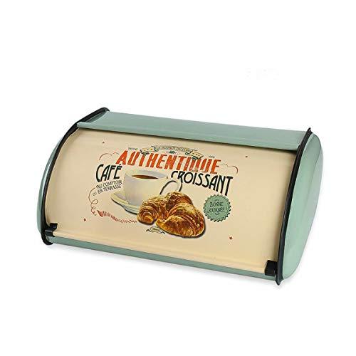 JANDH Brotkasten Geräumige Metall Brotbox Brotbox Brotkiste Brotbehälter Rollbrotkasten hält Brot und Brötchen länger frisch stilvolle Brotaufbewahrung für zuhause