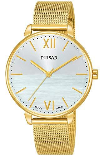 Pulsar Casual Montre Femme Analogique Quartz avec Bracelet Acier Inoxydable plaqué Or PH8446X1