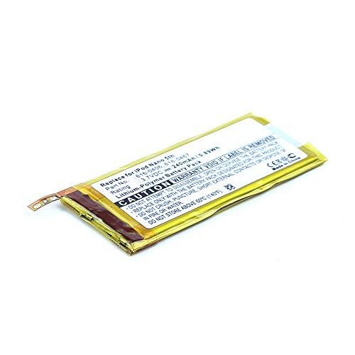subtel® Qualitäts Akku kompatibel mit Apple iPod Nano 5 Gen. A1320 (240mAh) 616-0406,616-0467,P11G73-01-S01 Ersatzakku Batterie Ipod Nano Akku