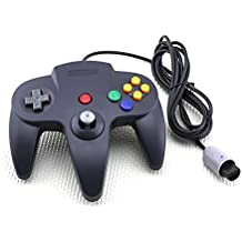 Classic Wired Long Handle Gaming Controller for Nintendo 64 N64 Game Console-Black [Importación Inglesa]