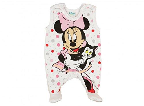 üßchen, LEICHT GEFÜTTERT, Spiel-Anzug mit Druckknöpfen, Baby-Schlafanzug ÄRMELLOS mit Minnie Mouse, Grösse 50, 56, 62, 68, Geschenk für Neugeborene, Frühchen Farbe Rosa, Größe 68 ()