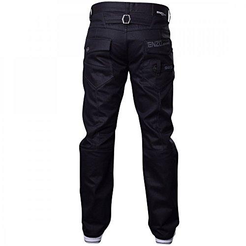 Enzo Herren Designer Jeans - Hellblau Steinwäsche (EZ243) Schwarz Beschichtetes Denim (EZ329)