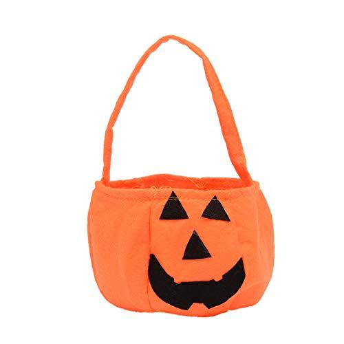 (Schreckliche Geräte Kürbis Tasche Halloween Kinder Süßigkeitstasche Einkaufstasche Geschenk Tasche Geschenk Dekor Sack Festival Geschenk Prop)