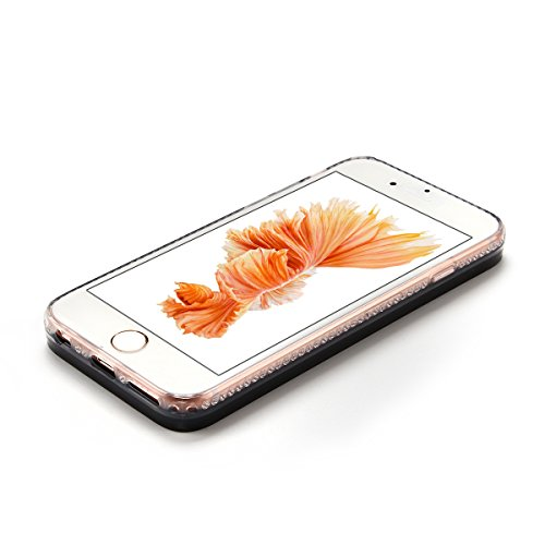 Cover iPhone 6 Custodia iPhone 6s Liquido Anfire Trasparente Rigida Duro Plastica PC Case per Apple iPhone 6 / 6s (4.7 Pollici) Sabbie Mobili Shell 3D Bling Glitter Floating Quicksand Copertura Hard S Spazio