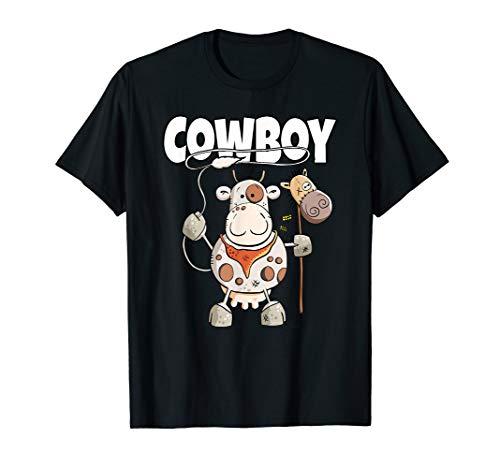Cowboy Kuh T Shirt Geschenk für Western Freunde I Funshirt