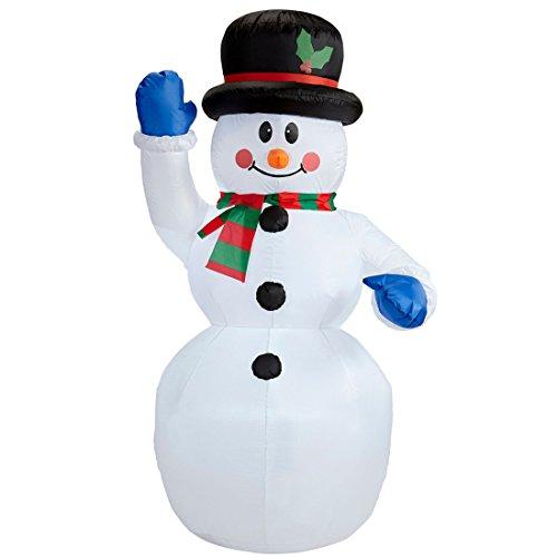 NET TOYS Aufblasbarer Schneemann beleuchtet Weihnachtsdeko außen 150 cm Beleuchtete Winterdeko Deko Weihnachten