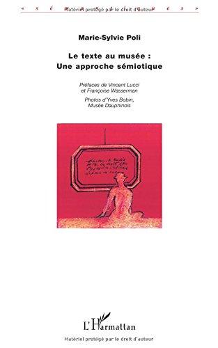 Le texte au musée : une approche sémiotique par Yves Bobin