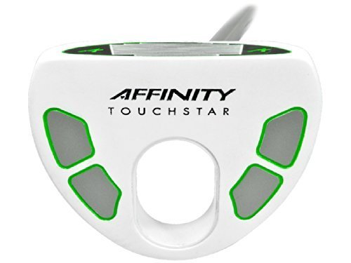 AFFINITY Golf Touch Star Putter, White/Green, Right Hand, 35-Inch by King Par, LLC