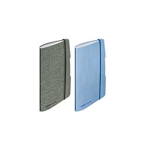 Herlitz 50017706 Minitimer Flex Leinen, A6, 2019, Farbig Sortiert (grau/Hellblau), Keine Auswahl möglich!