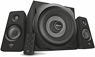 Trust Gaming GXT 638 2.1 Digital Gaming Speaker System with Subwoofer for Computer, Laptop, PlayStation 4 and Xbox One, 120 W, UK Plug, Digital Connection, Black (B00M48CEQ4) | Amazon price tracker / tracking, Amazon price history charts, Amazon price watches, Amazon price drop alerts