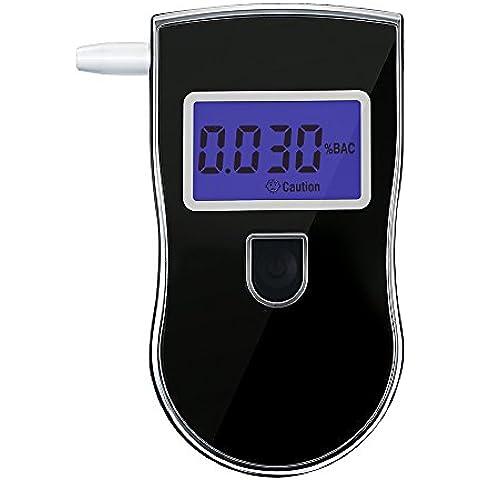 VicTsing Etilometro Digitale con Sensore Semiconduttore Professionale con Schermo LCD Display Polizia Digitale Alcohol Breath Analyzer Detector Tester, Nero