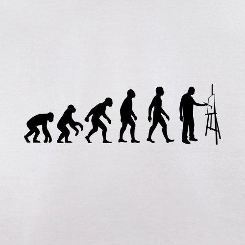 Evolution of Man - Künstler - Herren T-Shirt - 13 Farben Weiß