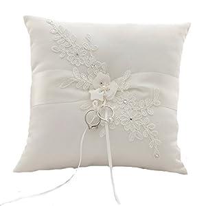 Ringkissen Ivory Blume Hochzeitsaccessoires Kissen für Eheringe Ringe Hochzeit Accessoires