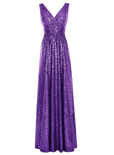 Bbonlinedress Robe de cérémonie Robe de bal emperlée dos nu longueur ras du sol Raisin