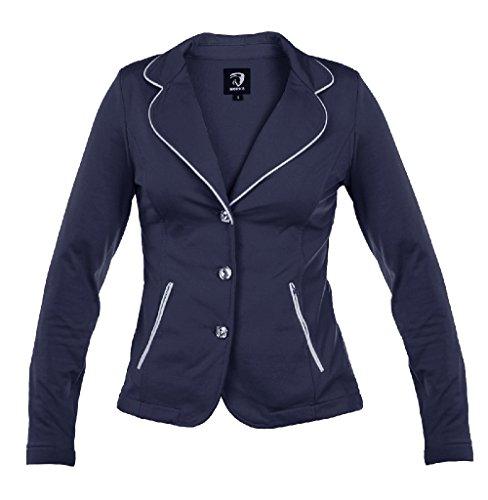 HORKA Junior Leicht Softshell Stretch Strass Riding Competition Jacke, blau