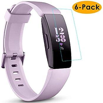 KIMILAR Compatible avec Fitbit Inspire/Inspire HR Protection Décran, (6 Paquet) Couverture