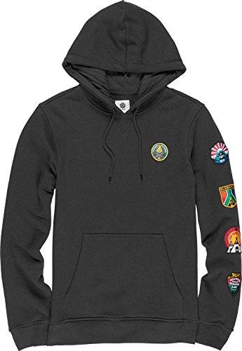 Element Herren EA Patched Fleece Sweatshirt Off Black L Element-fleece-sweatshirt