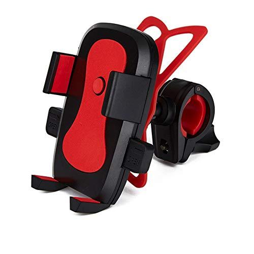 Dromensho Soporte para Bicicleta, Soporte para Bicicleta, Abrazadera de Horquilla Universal para iOS Android Smartphone, GPS para navegación, 360 Grados de rotación, (Color : Red)
