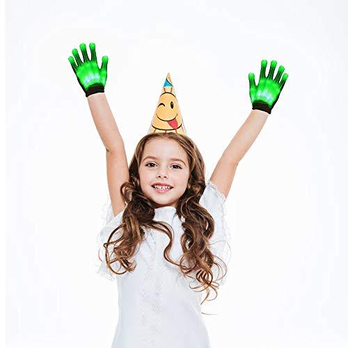wgde toy Geschenk für 3-16 jährige Jungen Mädchen, LED Handschuhe Finger Leuchten Fingerspitzen Flashing Neue Coole Party Bevorzugen für 3-16 jährige Jungen Mädchen als Geburtstaggeschenke