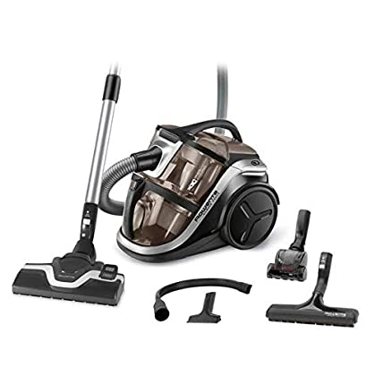 Rowenta Silence Force Multi RO8388EA - Aspirador sin bolsa multiciclónica con clasificación 4A, silenciosa, fácil de limpiar y almacenar y con accesorios para coche y hogar