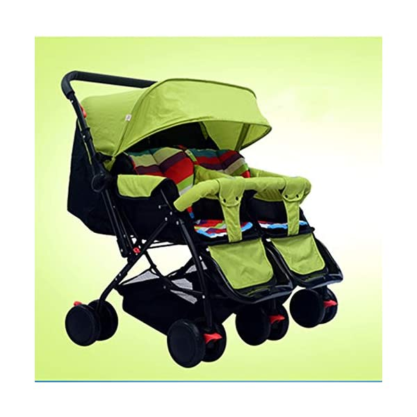 I will take action now Twin baby strollers can sit and gently fold twins and phoenix carts four seasons universal second child artifact bb car (color : C) I will take action now The seat is comfortable, you can face the outside world, breathable comfort and easy travel. Innovative canopy design, high-quality fabric, warm sunscreen, breathable, anti-40 + UV, crown from plastic to aluminum, more stable and prevent deflection. Freely disassembled, independent space, twins or big treasures, bearing together. 1