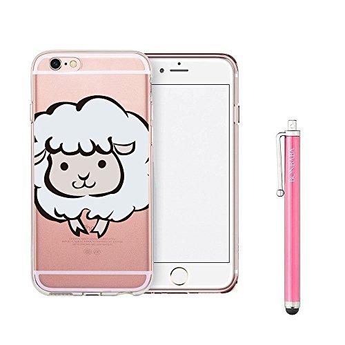Coque iPhone 7 Housse étui-Case Transparent Liquid Crystal Mandala en TPU Silicone Clair,Protection Ultra Mince Premium,Coque Prime pour iPhone 7 (2016)-les sorcières les moutons