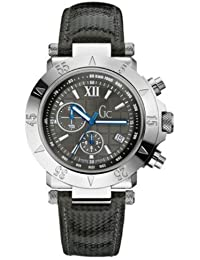 Gc Herren-Armbanduhr XL Se1 Chronograph Quarz Leder A47001G2