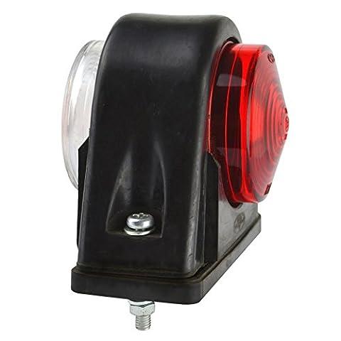 Trailer seitliche Begrenzungsleuchte rote und weiße Lampe mit Gummisockel TR163