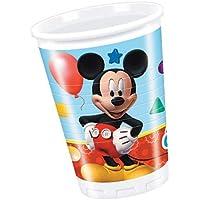 Perona - Pack 8 vasos 200 ml, Mickey Mouse (50864)