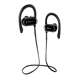 Cuffie Bluetooth, Alfheim Auricolari sportivi wireless, IPX-7 Auricolari stereo HD stereo per palestra con contapassi, Bluetooth V4.1 + aptX CVC6.0 Cuffie con cancellazione del rumore (S9)