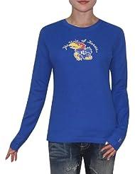 NCAA Kansas Jayhawks Femme Slim Fit Long Sleeve Shirt