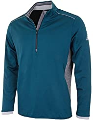 adidas Golf 2016Climaheat Half-Zip Jersey Rendimiento Golf Jacket- la apertura 2016, hombre, Utility Green