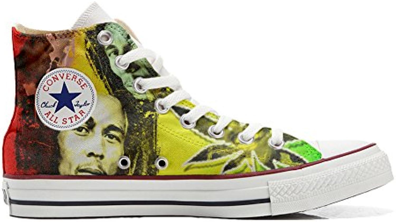 Schuhe Custom Converse All Star  Personalisierte Schuhe (Handwerk Produkt Customized) Bob Marley